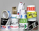 Custom Packing Tape, Print Gray Design or Text over White Background, Poly Pro Standard Grade (1.9 Mil)
