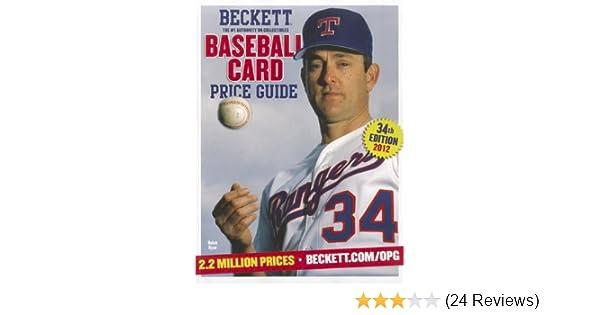 Beckett Baseball Card Price Guide 2012 Brian Fleischer James Iii