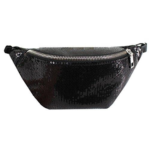 AiSi FS-bb-02743-02He, Sac pour femme à porter à l'épaule Silvery 2 taille unique Noir