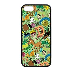 [Accessory] iPhone 5 Case, [creative pattern] iPhone 5,5s Case Custom Durable Case Cover for iPhone5s TPU case (Laser Technology) by runtopwell