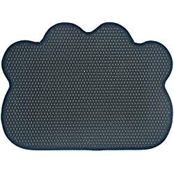 Kuaker Pet Food Mat Silicone Pet Food Mat Mesh Mat Honeycomb Pad EVA Green Pet Supplies Easy to Clean,Navy
