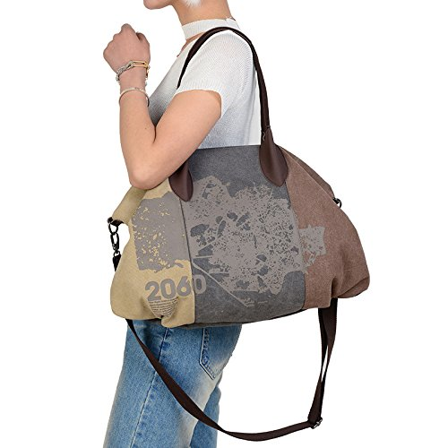 Hobo Women's Canvas Bag Red Women's Ladies Shoulder Canvas Totes Handbag naT41qFFx
