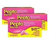 Pepto Bismol Caplets for Nausea, Heartburn, Indigestion, Upset...