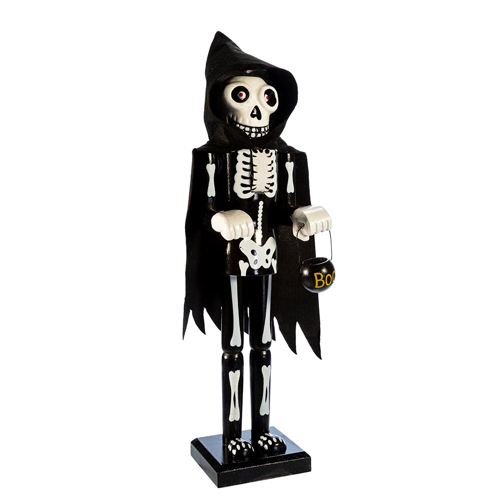 Kurt Adler Wooden Halloween Skeleton Nutcracker, 15-Inch