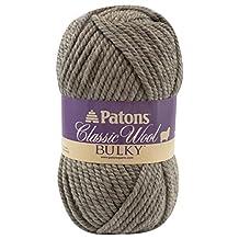 Spinrite Classic Wool Bulky Yarn, Medium Grey Heather