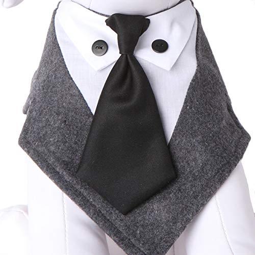 - Tail Trends Mr. Grey Neck Tie Formal Dog Tuxedo Bandana