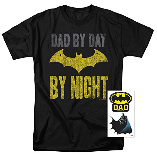 Popfunk Batman Dad by Day T Shirt for Father's Day (XXXX-Large)