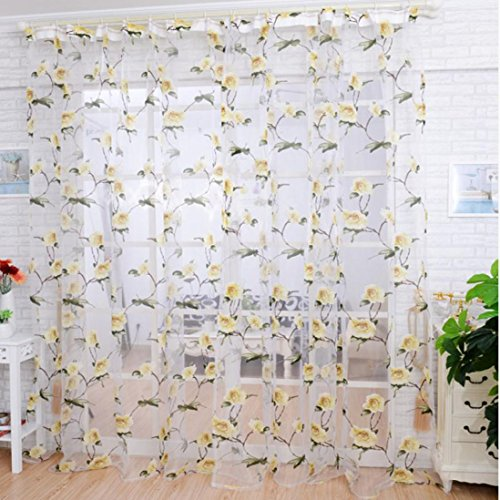 Paymenow 1 Piece Tulle Window Curtain 78