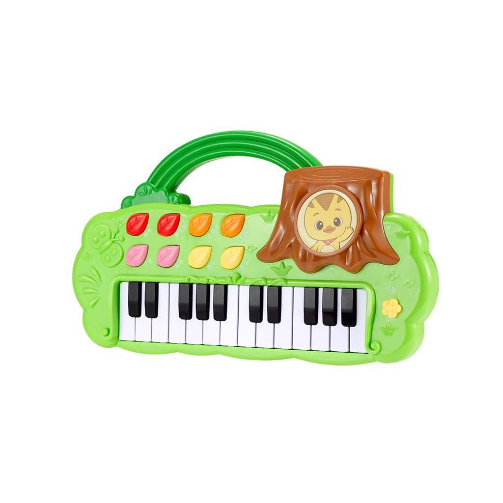 LIUFS-Piano Early Education Instrument Portable Piano Keyboard Toy Piano Fun Boy Girl Children's Toys (Color : Green) by LIUFS-Piano