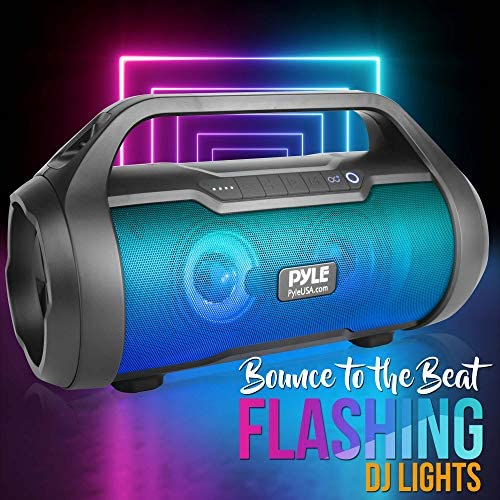Wireless Portable Bluetooth Boombox Speaker – 500W 2.0CH Rechargeable Boom Box Speaker Portable Barrel Loud Stereo System with AUX Input/USB/SD/Fm Radio, 3″ Subwoofer, Voice Control – Pyle PBMWP185 51EbSV2hZeL