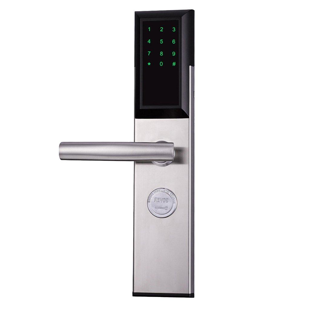 AO Mobile Phone Remote Bluetooth APP Unlock Rental Apartment Security Door Lock Office Home Smart Lock (Color : Silver, Size : B)