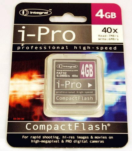 Integral 4 GB Alta Velocidad 40 x Tarjetas Compact Flash I ...