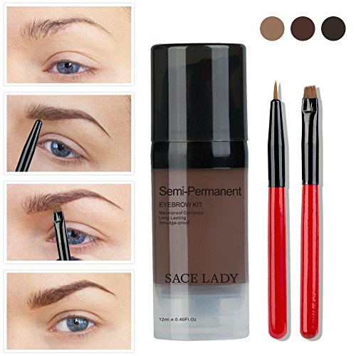 Waterproof Eyebrow Tint Gel Kit, Long Lasting Brow Color Gel Mascara for Eyebrow Makeup,Flake-proof,Smudge-proof, 12ml Light - Define Tints