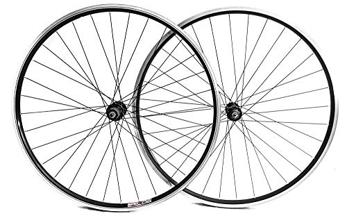 Stay-Tru Matrix 750 700c Road Bike Double Wall AL-6005 Wheelset 8-10 Speed Black QR New