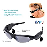 e-TKT Bluetooth Sunglasses Headset Headphone Wireless Music Sunglasses Polarized Lenses Outdoor Stereo Headphones Handsfree Headset for iPhone Samsung LG and Smart Phones PC Tablets(Black-Gray)
