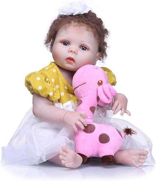 Poupée Renaissance Petit bébé Yeux fermés 55 cm Fille réaliste Cadeau