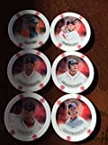 2014 Topps Chipz Boston Red Sox Team Set 6 Poker Chips