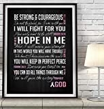 Be Strong Breast Cancer Awareness Encouragement Art Print, UNFRAMED, Pink Survivor Bible Scripture gift for her, ALL SIZES