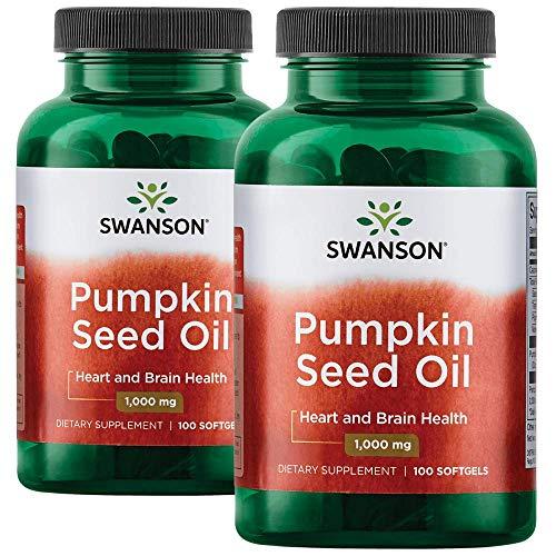 (Swanson Pumpkin Seed Oil 1000 Milligrams 200 Sgels 2 Bottles)