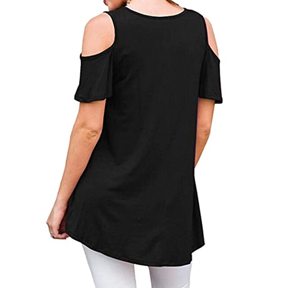 Amazon.com: Blouse for Womens, FORUU Short Sleeve Casual Off Shoulder Sexy Loose Top T Shirt: Clothing