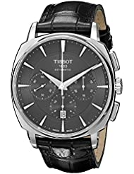 Tissot Mens  T Lord Black Dial Stainless Steel Chronograph Automatic Watch T059.527.16.051.00
