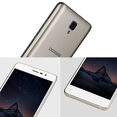 "Unlocked Smartphones, DOOGEE X10 GSM International Phone - 5.0"" IPS Display - Android 6.0-8GB ROM - 2MP+5MP Dual Camera - 3360mAh Battery - Dual Sim Unlocked Cell Phones - Gold(no ads)"