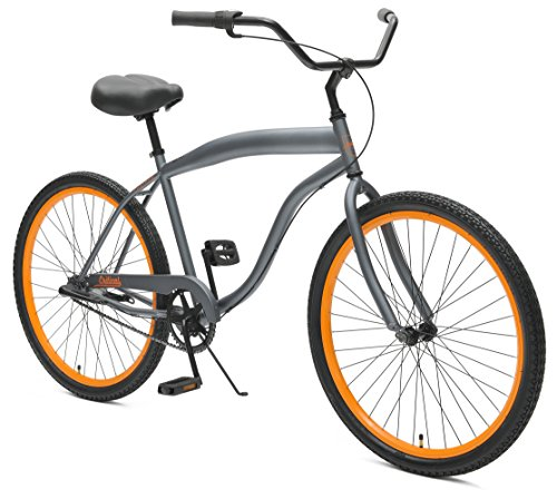 "Critical Cycles Chatham Beach Cruiser Men's 26"" Three-Speed, Graphite & Orange"