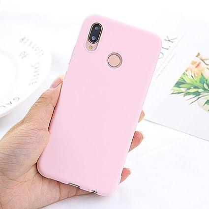 Amazon.com: Funda de silicona suave para Huawei Y6 Y9 Y7 ...