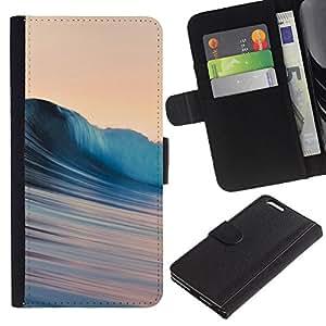 YiPhone /// Tirón de la caja Cartera de cuero con ranuras para tarjetas - Ondas sedosas - Apple Iphone 6 PLUS 5.5