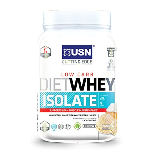 USN Diet Whey Isolate, Vanilla, 1.5 Pounds, 25 Servings For Sale