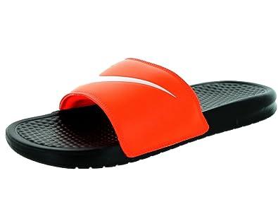 74f5470b0c65 Image Unavailable. Image not available for. Colour  New Nike Men s Benassi  Swoosh Slide Sandal Crimson Black White 12