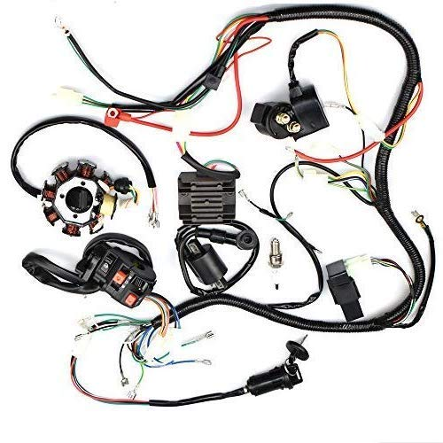 Complete Electrics Stator Coil CDI Wiring Harness for 4 Stroke ATV on
