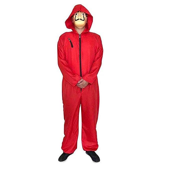 Disfraz de Halloween Cosplay La Casa de Papel Rojo Mono con ...