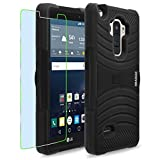 LG G Stylo / G4 Stylus / LS770 / H631 / MS631 Case, INNOVAA Turbulent Armor Case (Not Compatible with LG G4) W/ Free Screen Protector & Stylus Pen - Black/Black