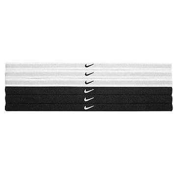 Nike Swoosh Sport Headband 6pk BlackWhite