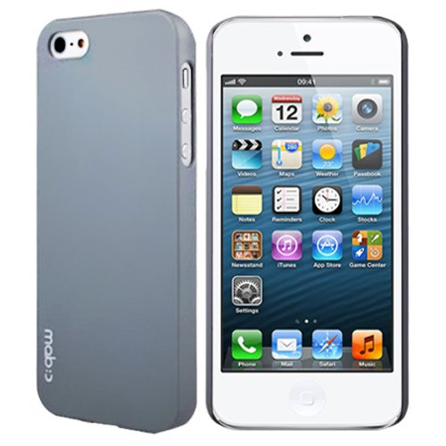 MobC New iPhone 5 Case ColorPop - Dual UV Slim Fit - Screen Protector / Home Button Included - Retail Packaging - Cool Gray