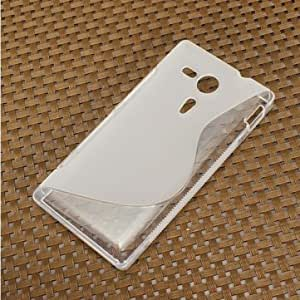 S-Line Soft TPU Silicone Back Case For Sony Xperia SP M35h C5302 @ Color==Clear