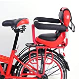 NACHEN Bicycle Child Safety Rear Seats with Seat Belt Detachable Fence Armrest and Pedal