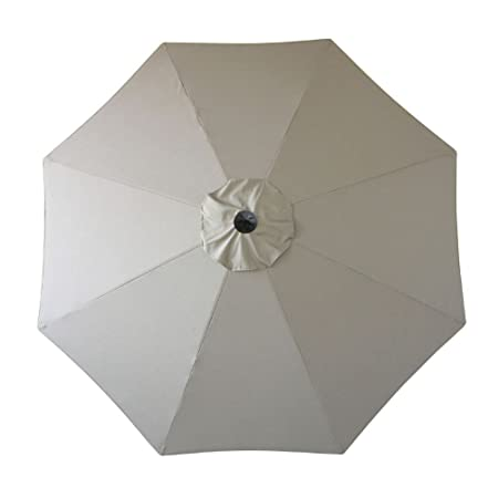 Amauri Outdoor Living The Market Collection Universal Fit Modern 9ft Sunbrella Fabric Replacement Umbrella Canopy, Taupe