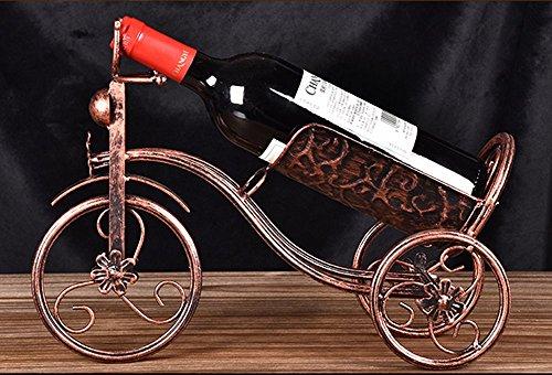 CdyBox Wrought Iron Wine Holder/Rack Bike Shape Tricycle Art Home Décor (Bronze)