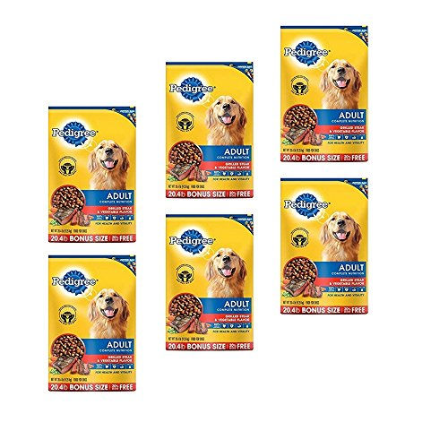 PEDIGREE Adult Grilled Steak and Vegetable Flavor Dry Dog Food 20.4 Pounds by Pedigree (6 Pack) by Pedigree