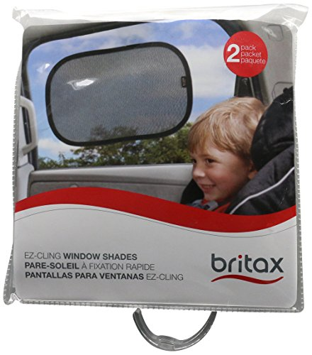 Britax EZ-Cling Sun Shades, Black, 2 Count (Driver Side Window Sun Shade)