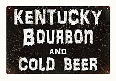 Kentucky Bourbon and Cold Beer Bar or Restaurant Sign