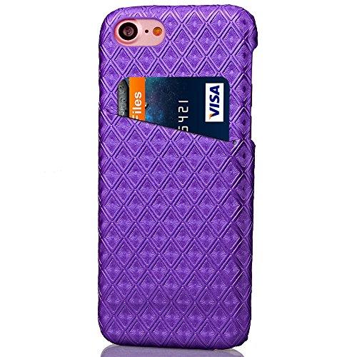 iPhone 8 Funda piel PU Case Cover Carcasa Tapa trasera piel vegana premium con cartera para Apple iPhone 8 original - Ultrafina con bolsillo tarjetero. C