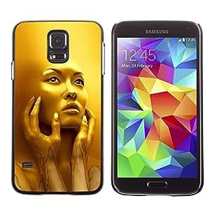 Paccase / SLIM PC / Aliminium Casa Carcasa Funda Case Cover - Face Young Woman Fashion Bling - Samsung Galaxy S5 SM-G900
