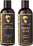Beard Shampoo and Beard Conditioner Wash & Growth kit for Men Care - Softener & Moisturizer for Hydrating, Cleansing and Refreshing Beard and Mustache Gift Set (Classic, 100ml (3.4 fl oz))