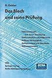 img - for Das Blech und seine Pr fung (German Edition) book / textbook / text book