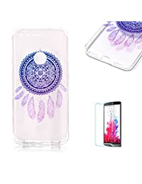 Google Pixel XL Case [with Free Screen Protector].Funyye Crystal Transparent Soft TPU Fashionable Pattern Design Shock Proof Protective Cover Case for Google Pixel XL-Blue Dreamcatcher
