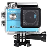 """Andoer Ultra HD Action Sports Camera 2.0"""" LCD 16MP 4K 25FPS 1080P 60FPS 4X Zoom WiFi 25mm 173 Degree Wide-Lens Waterproof 30M Car DVR DV Cam Diving Bicycle Outdoor Activity Andoer"""