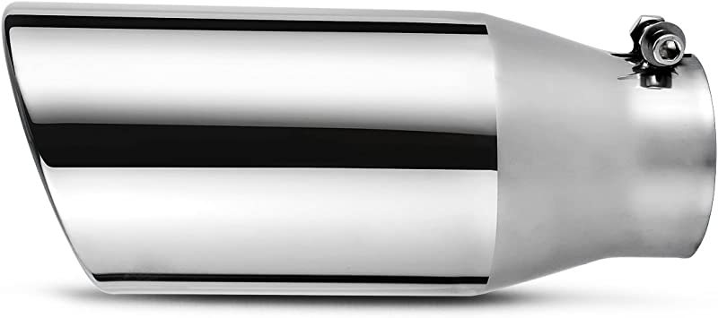 3 Inch Black Exhaust Tip AUTOSAVER88 Universal 3 Inside Diameter Diesel Exhaust Tailpipe Tip 3 x 5 x 12 Clamp On Design.